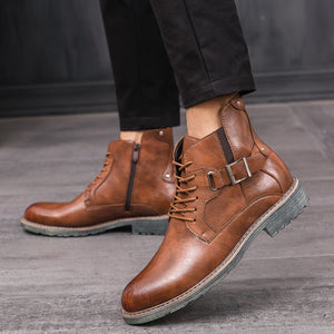 Men's Mid-Shoes Casual Wild England Boots