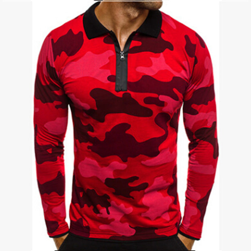 New Men's Polo Shirt High Quality Camouflage Shirts