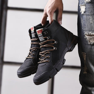 New men's casual high-rise tooling boots