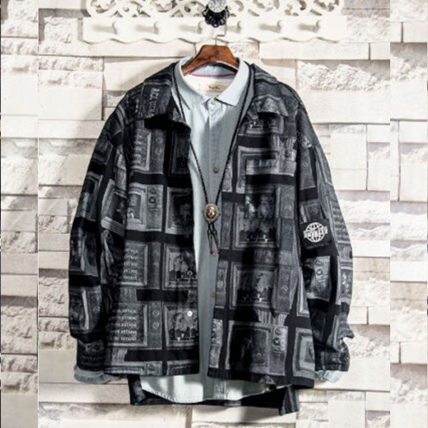 Street dance street fashion jacket color matching hip hop jacket