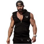 2019 Cotton Hoodie Sweatshirts fitness clothes bodybuilding Sleeveless Trend Tees Shirt - freakichic
