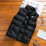 men's sleeveless cotton jacket winter warm vest