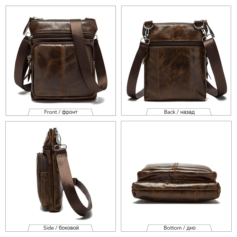 Men Shoulder bag Genuine Leather Messenger Bag - freakichic