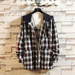 Trendy slim plaid cotton hooded jacket