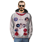 Long Sleeve Creative Astronauts 3D Printing Casual Men's Sweater Hoodies - freakichic