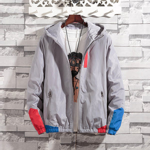 Men's colorblocked cotton jacket - freakichic