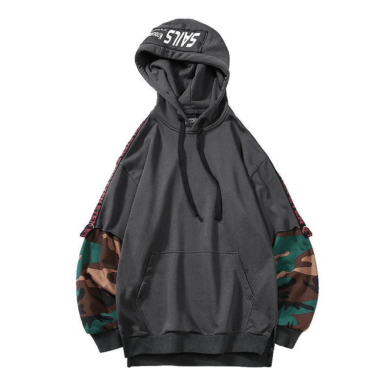 2019 Men Camouflage Hooded Hoodies Sweatshirts - freakichic