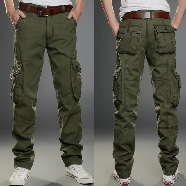 Men's Cargo Outdoors Casual Long Trousers - freakichic