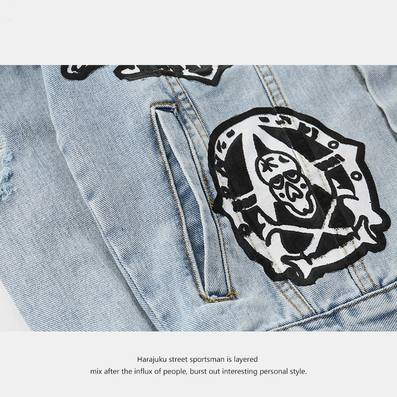 """THE REVOLT"" DENIM JACKET - freakichic"
