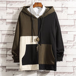 Men's casual fashion Contrast hoodie sweater - freakichic