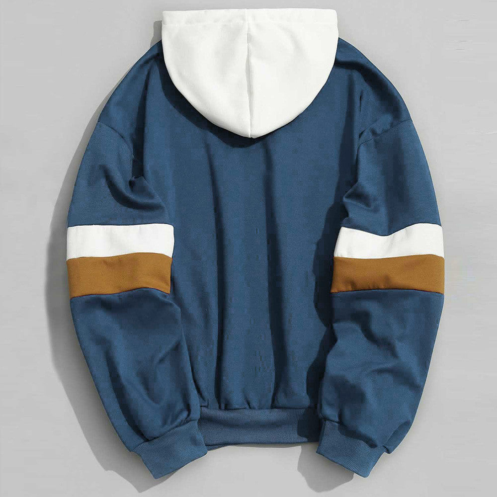 Pullover Contrast Color Hoodie