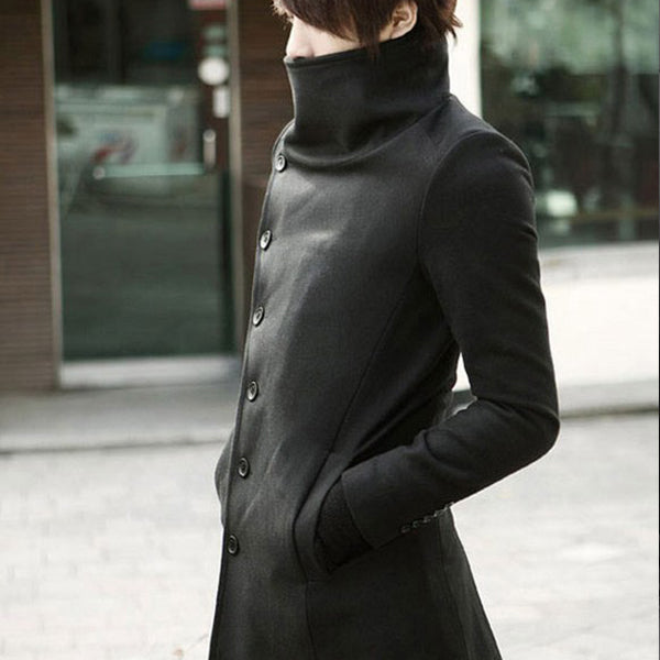 New men's long-selling trend coats casual large lapel trench coats