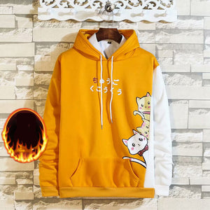 Cute cats Men winter fall hoodies - freakichic