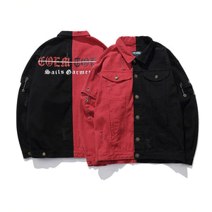 High Street Vintage Mens Denim Biker Jacket - freakichic