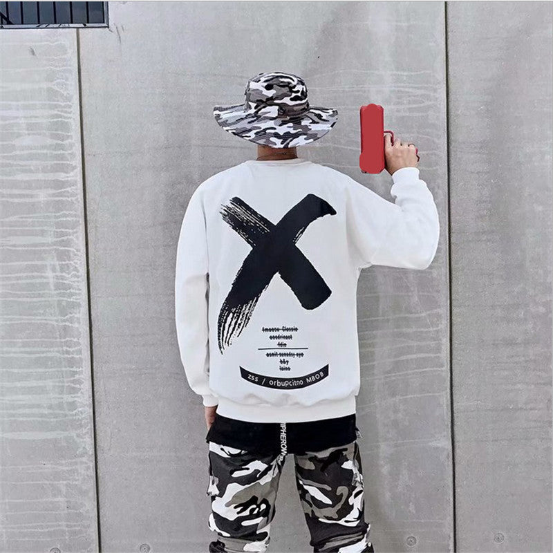 Men's Casual Cool Cotton X Pattern Kpop Sweatshirt Hoodies - freakichic