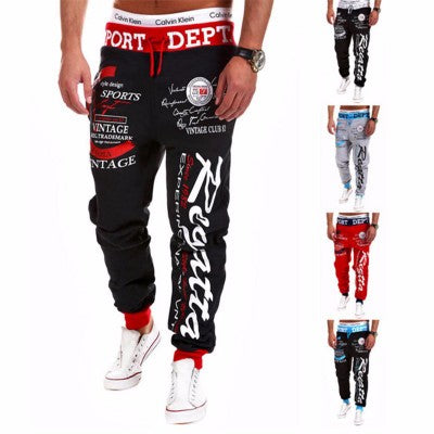 Alphabet digital print loose slacks - freakichic