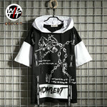 2019 summer street fashion brand hiphop male streamer print T-shirt - freakichic