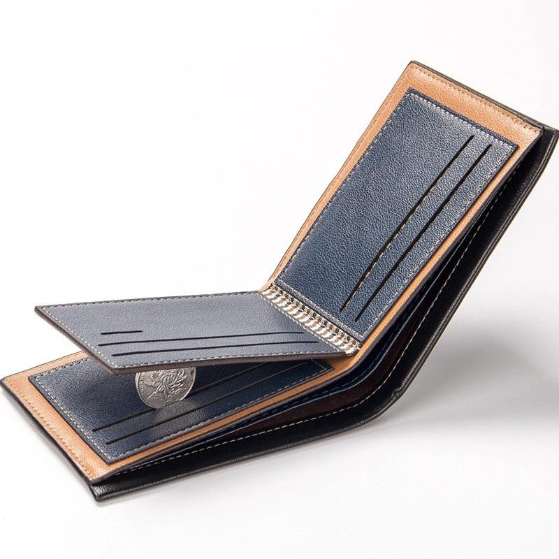 Men Leather Brand Luxury Wallet Short Slim Male Purses - freakichic