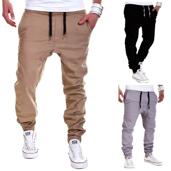 Men's tether elastic sports pants