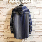 Striped hooded large size sweater