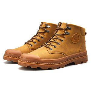 Mens s Palladium Style High-top Military Ankle Boots Martin Boots