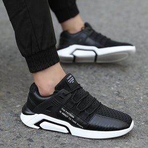 New breathable suede men's large size running shoes