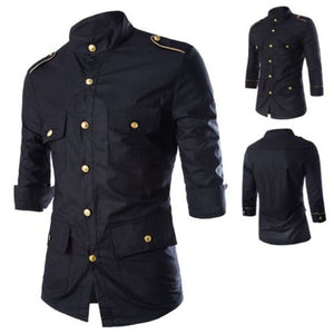 Fashion Mens Luxury Short sleeve Shirt Casual Slim Fit Stylish Dress Shirts Tops - freakichic