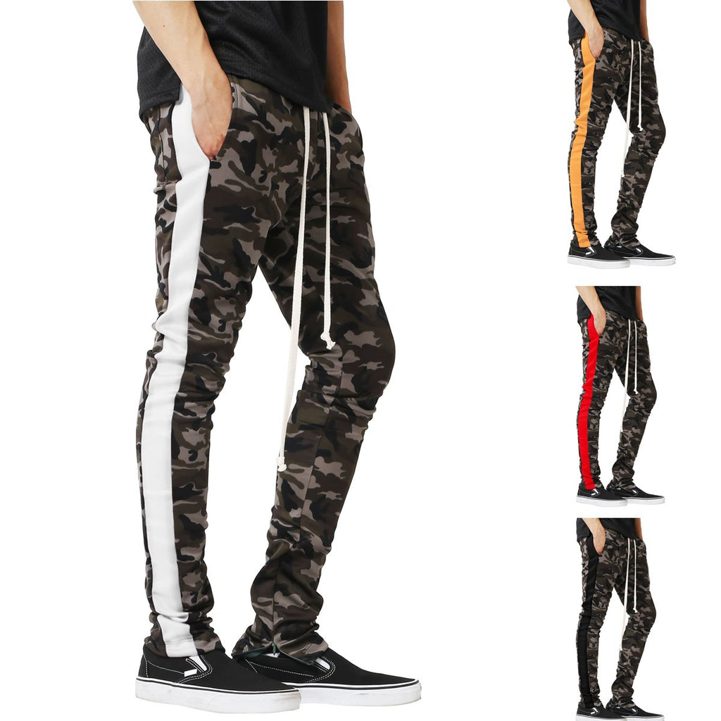 Mens Camo Sweatpants Jogger Sports Pants