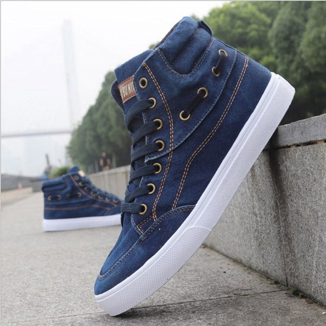 2019 new men's shoes denim canvas shoes - freakichic