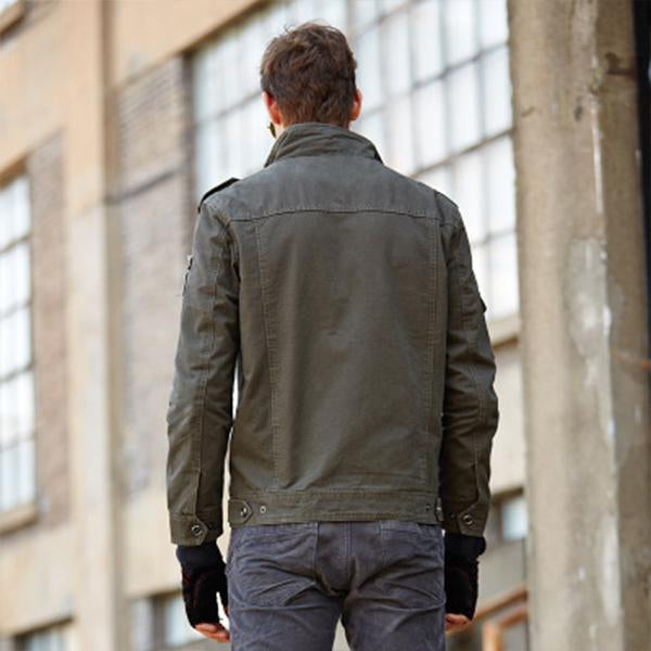 All-cotton military men's American jacket - freakichic