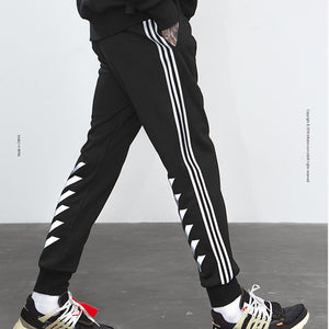 Side Stripe Reflective printing Men's Trousers