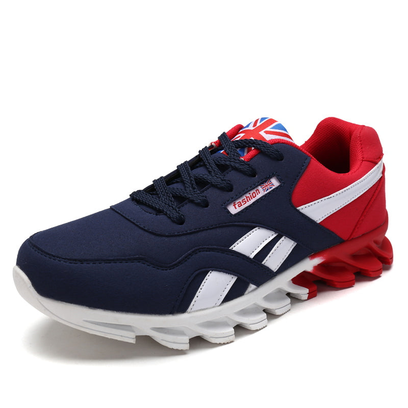 Zapatillas Hombre Fashion Lace Up Blue Red Grey Shoes