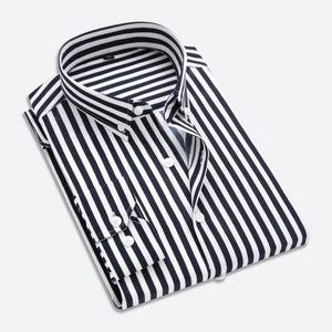Men Striped Long Sleeves Shirts - freakichic