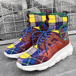 Mens High Tops Lace-Up Tennis Shoes