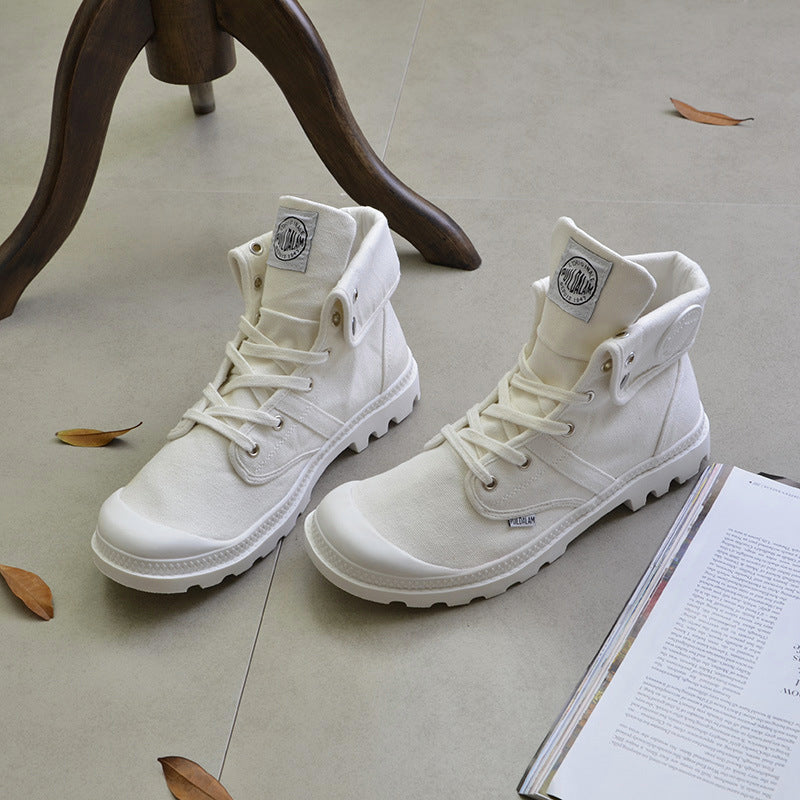 Palladium Style High-top Military Ankle Boots