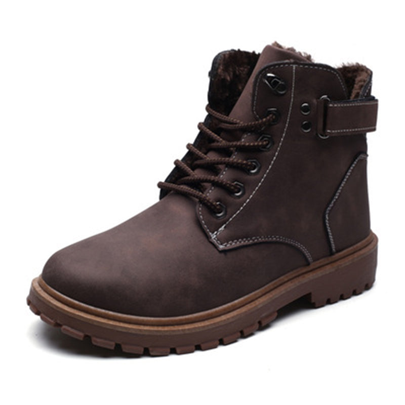 Male middle plus velvet Martin boots - freakichic