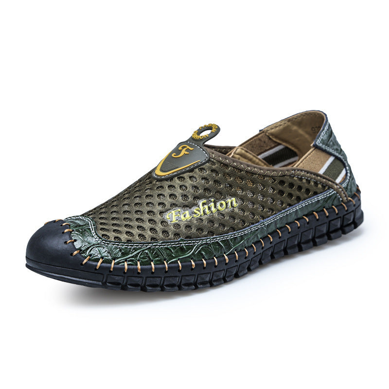 Plus Size 38-46 Air Mesh New Slip On Man Loafer Summer Fashion Casual Shoes