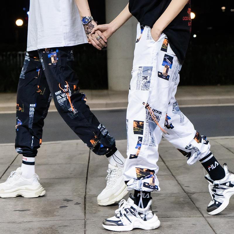 Hip Hip Pant Printing Men Star Harajuku Streetwear Fashion Casual Strip Sweatpant Sweat Pants - freakichic