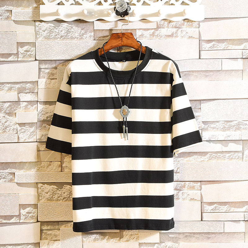 Plus Size  Men Fashion Striped T shirts