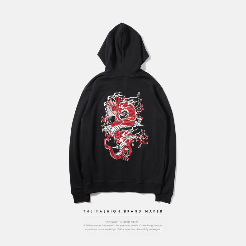 "Japanese Style Harajuku Hoodies Men 100 Cotton Embroidery ""Devil Satan"" Hip Hop Hoodie - freakichic"