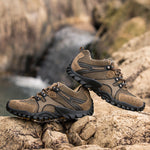 Leather wear-resistant non-slip hiking shoes - freakichic