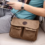 Vintage canvas men's bag casual shoulder bag messenger bag