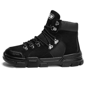British trend leather boots snow boots - freakichic