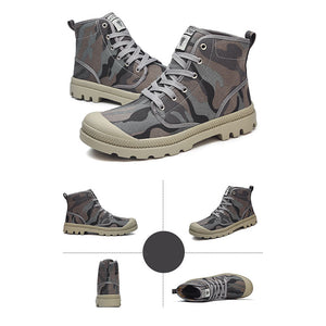 New canvas shoes men's high-top shoes extra large size hiking shoes