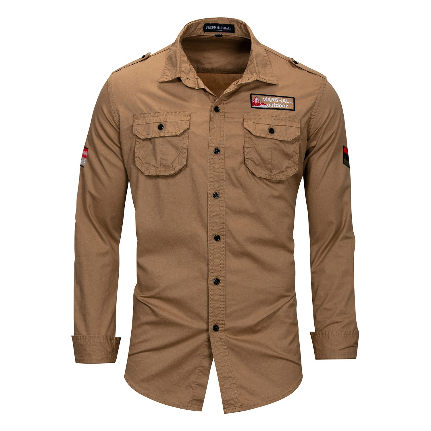 Combo of 4 New Cotton Military Style Long Sleeve Breathable Casual Solid Shirts for Men - freakichic