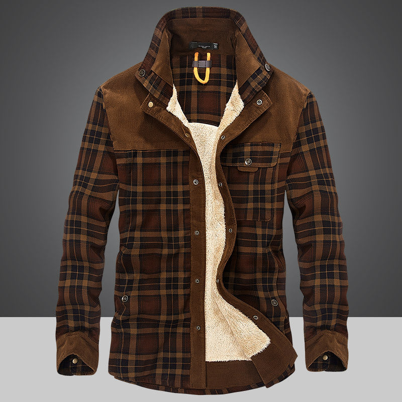 Men 100% Cotton Liner Casual Winter Jacket - freakichic