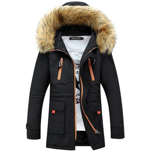 Men Cotton Winter Trend Down Cotton Pad Thick Jacket - freakichic