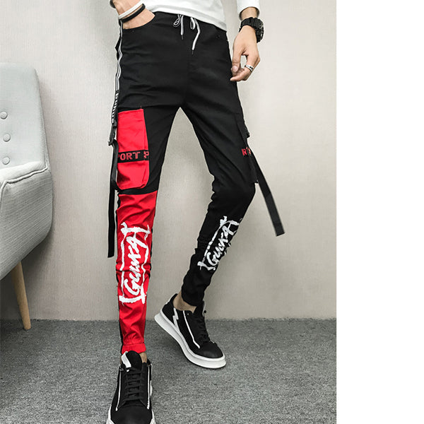 New casual pants men's stretch slim feet pants