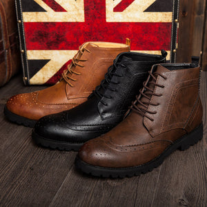 Vintage bullock leather boots