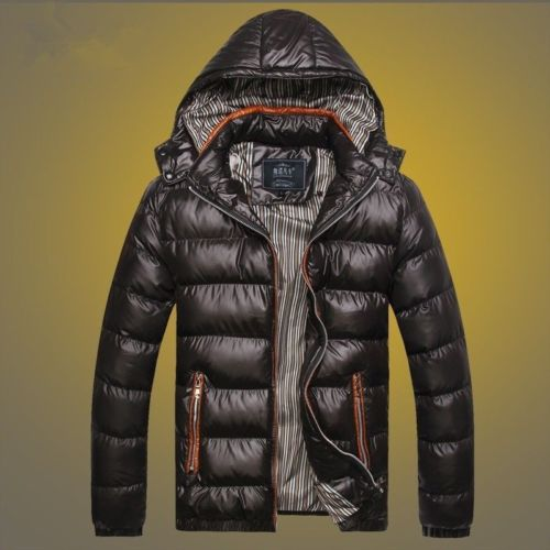 Men's Down Jacket Outdoor Hooded Coat Tops Waterproof Windproof Outwear - freakichic